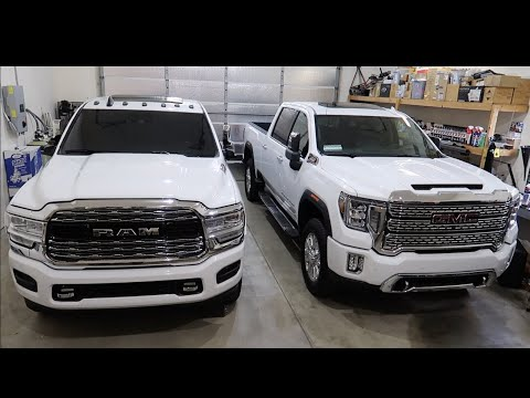 SIDE BY SIDE COMPARISON WITH 2019 RAM AND 2020 GMC!!