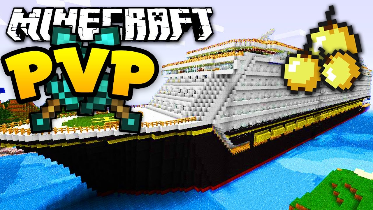 Minecraft Crazy 1v1v1 CRUISE SHIP PVP Fight Custom K