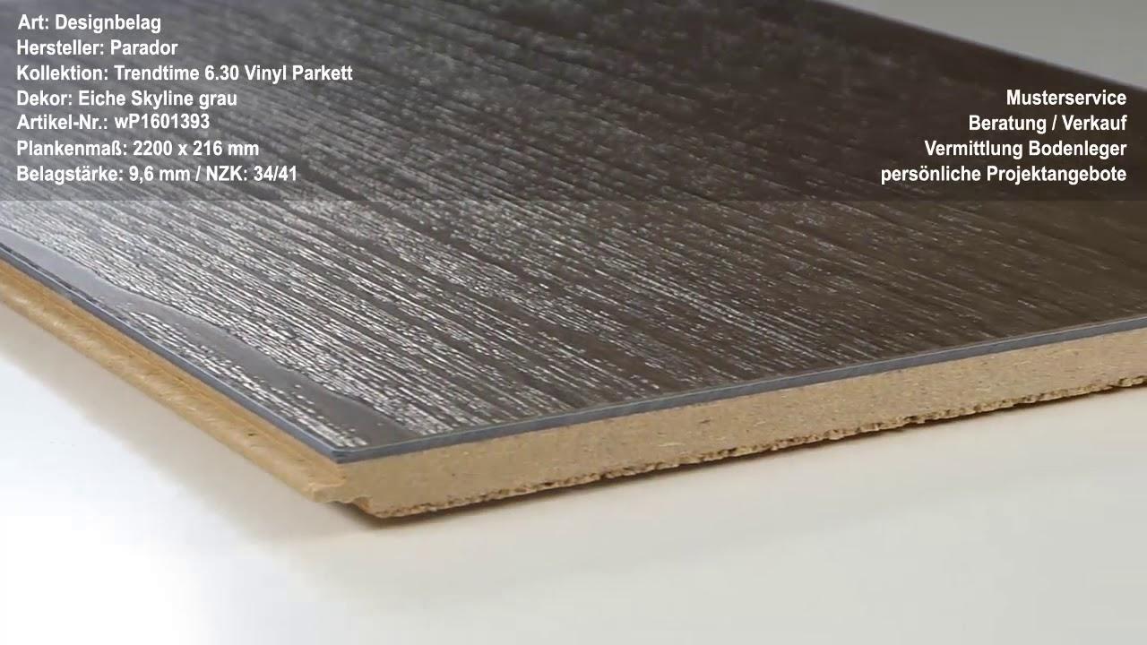 parador trendtime 6.30 vinyl parkett eiche skyline grau designbelag