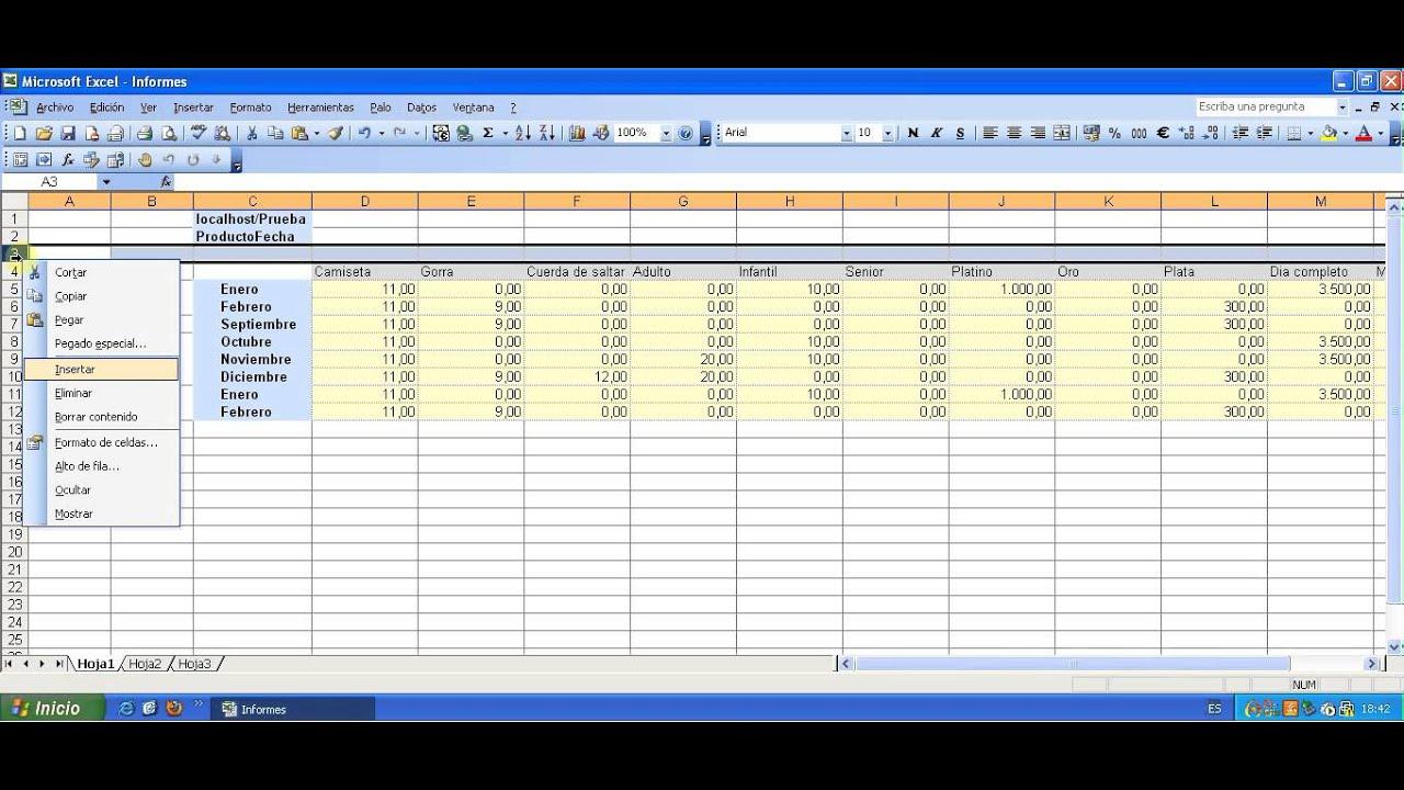 Reporte De Ventas En Excel