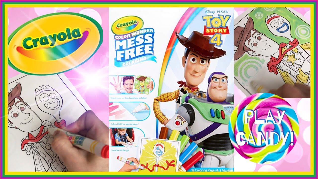 Disney Pixar Toy Story 4 Crayola Colour Wonder Mess Free ...