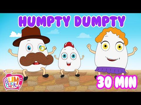 Humpty Dumpty Had A Great Fall   Nursery Rhymes   30 Min Songs   Bumcheek TV