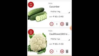 Taza Sabji app - an Online Vegetable and Fruits store app for your daily household needs.