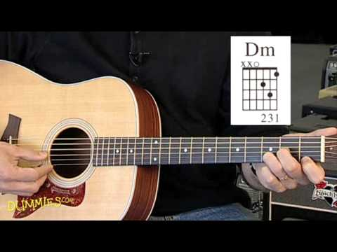 How to Play Basic Minor Chords on a Guitar For Dummies - YouTube