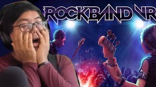 ROCK BAND VR?! 10 Minutes of My Reaction to Live Gameplay! thumbnail