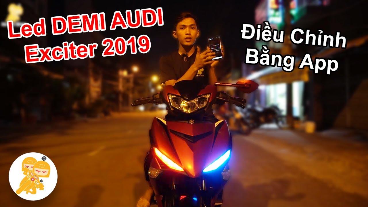 Độ DEMI Hiệu Ứng LED AUDI Cho Xe Yamaha Exciter 2019 - Xe Ôm Shop