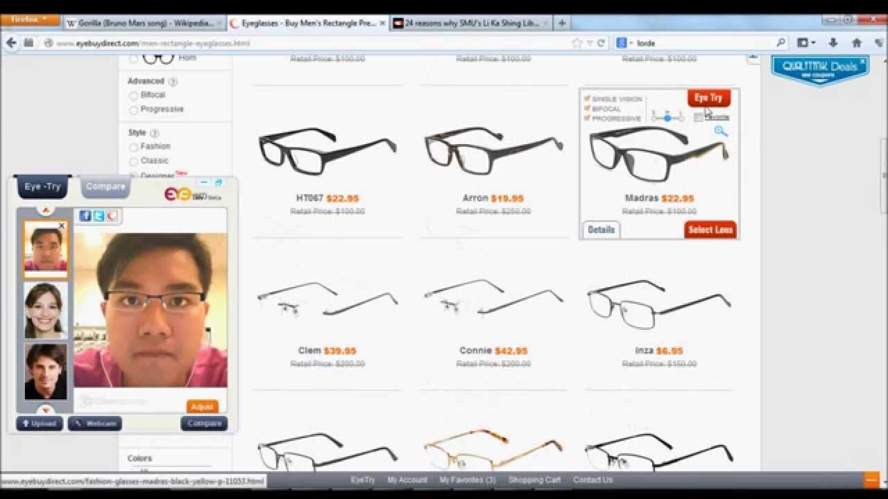 e6b40cb151 EyeBuyDirect.Com Virtual Try-On - YouTube