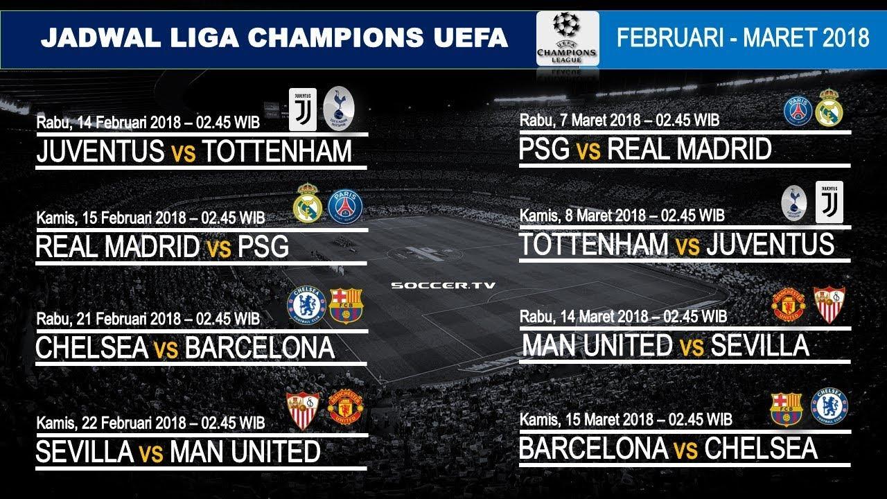 Jadwal Liga Champions Uefa Februari