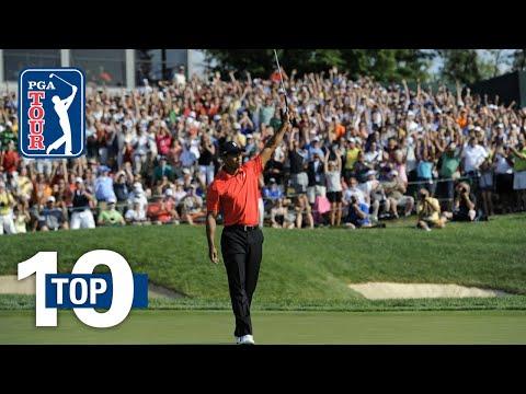 Tiger Woods' top 10 shots at Muirfield Village