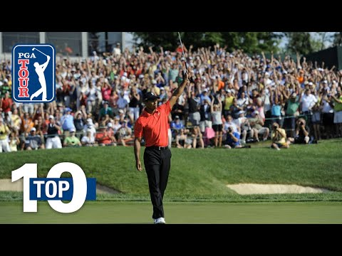 Tiger Woods' top 10 shots at Muirfield Village