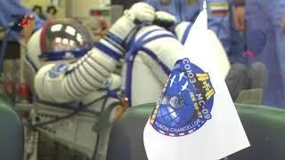 Первая тренировка экипажа ТПК «Союз МС-09»