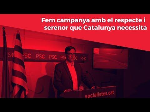 Fem campanya amb el respecte i serenor que Catalunya necessita