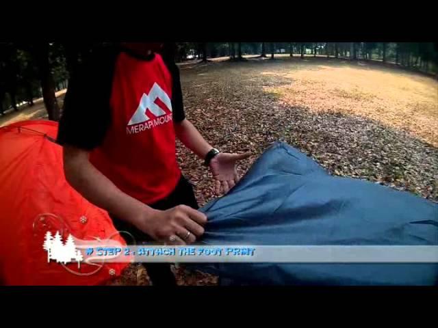Half Moon 2 Set up   Merapi Mountain Tent