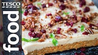 Vegan Carrot Cake Recipe  | #TescoHelpSquad with SORTEDfood