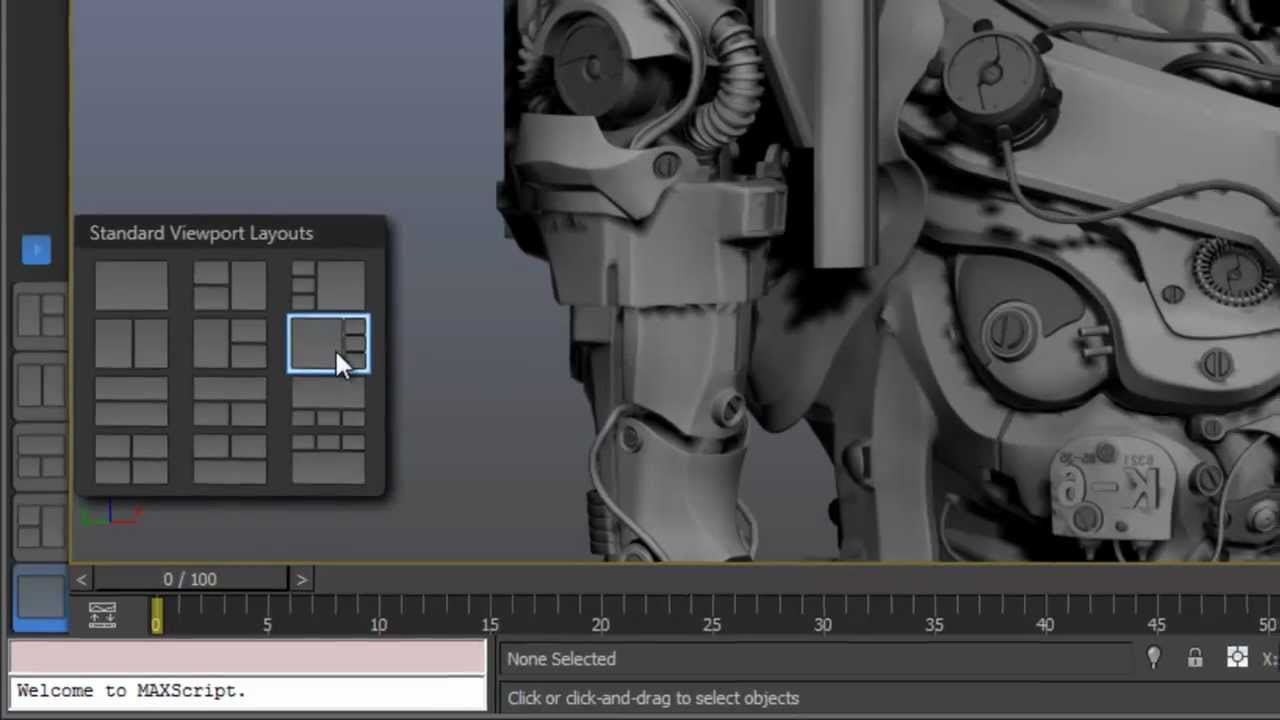 3ds max and 3ds max design 2013 tabbed layouts youtube for Decoration 3ds max