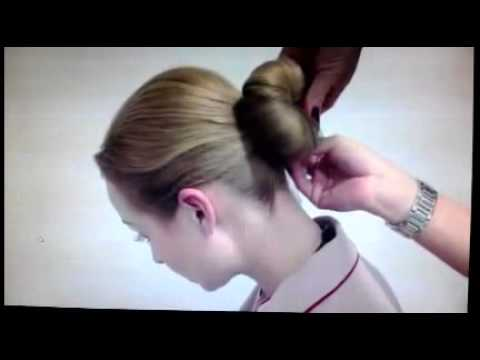 How to do the Emirates cabin crew bun hairstyle - YouTube
