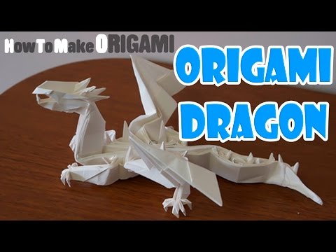 An amazing Wyvern Dragon Origami designed Paper (HOW TO MAKE ORIGAMI)