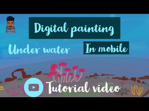 DIGITAL PAINTING IN MOBILE |TUTORIAL VIDEO | INFINITE PAINTER |SPEED ART | 2020 #ansarieditzs