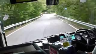 Gambar cover 【快鏡後製】 日本巴士佬  伊呂坡山道 表演高超技術 Japanese Bus Driver skill - Irohazaka Downhill
