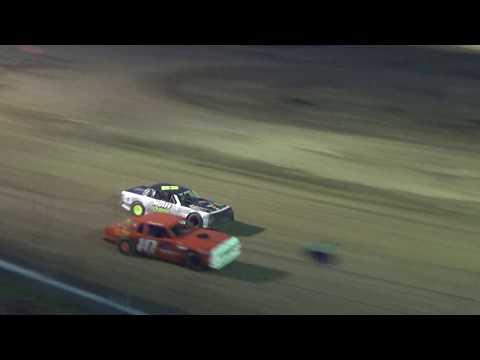 Street Stock Heat Race #1 at I-96 Speedway on 05-04-2018.