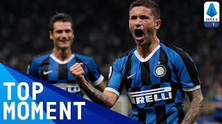 Inter moved to the top of serie a, two points clear juventus, as their third win in many matches was secured by stefano sensi's first-half header   ser...