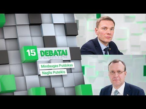 Kandidatų į prezidentus debatai – M.Puidokas ir N.Puteikis