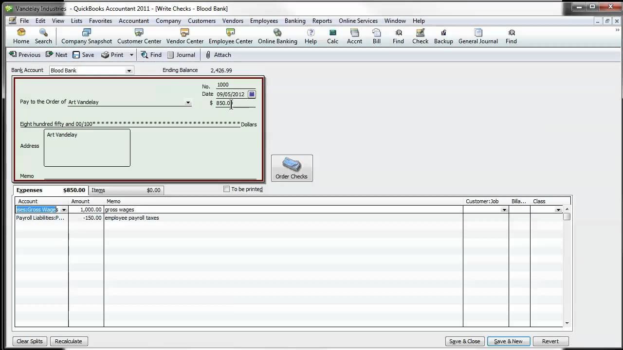 QuickBooks Tip: Properly Recording Outsourced Payroll In QuickBooks