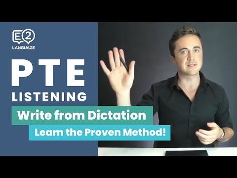 PTE Listening: Write from Dictation | Learn the Proven Metho