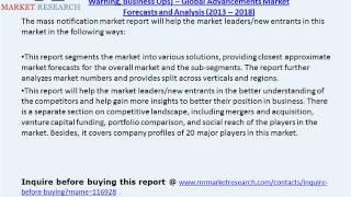 mass notification market forecasts to 2018