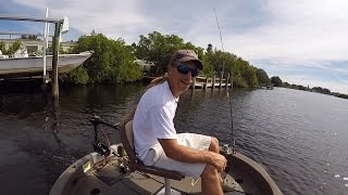 Fishing from a Round Boat
