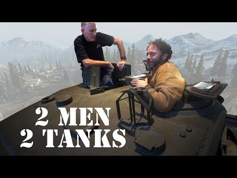 Lindybeige and The Chieftain ramble over a Churchill tank (with added Sherman)