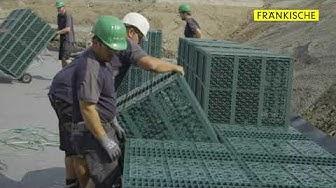 Rigofill inspect: Einbau Rigole als Prozesswasserspeicher | FRÄNKISCHE