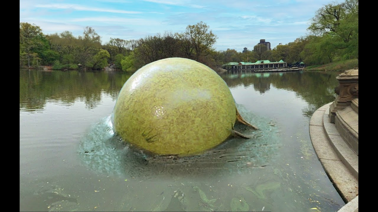 huge water bubble pops..