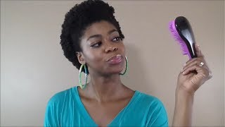 4C Natural Hair - Tangle Tamer Review (Incomplete Splits! Setback?) + Hair Talk - NaturalMe4C