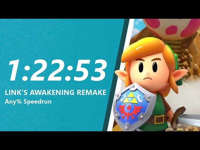 Link's Awakening Remake Any% Speedrun in 1:22:53