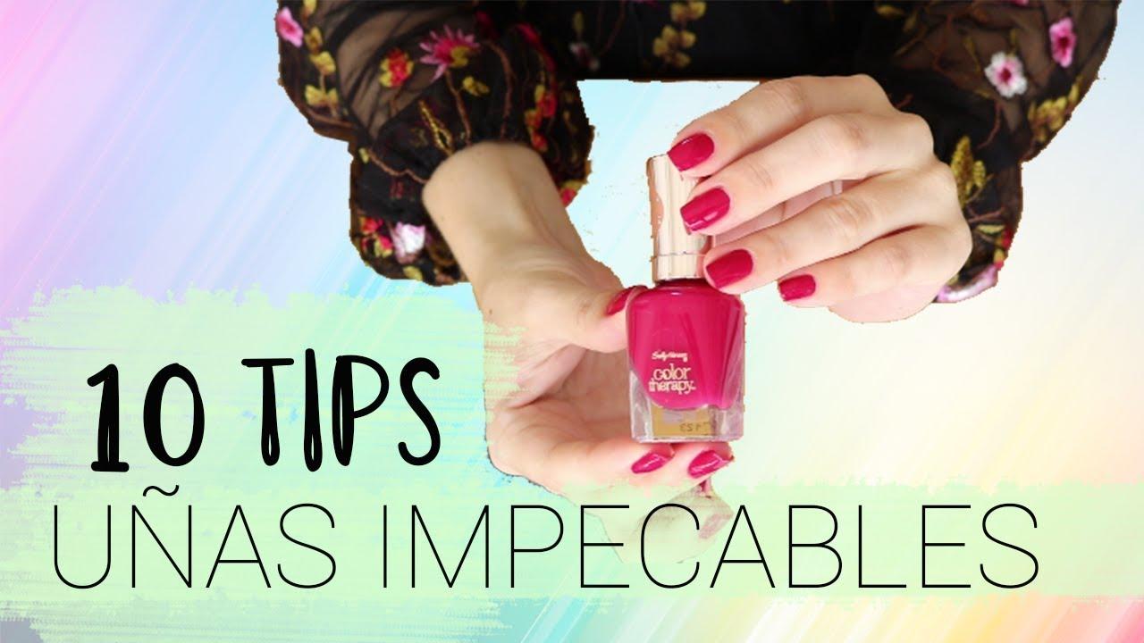 10 TIPS • ¡Uñas impecables en casa! - YouTube