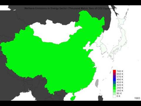 East Asia - Methane Emissions In Energy Sector - Time Lapse