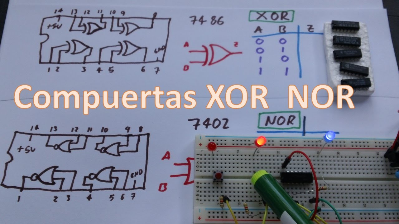 Circuito Integrado Xor : Compuerta nor circuito integrado informacion y tutoriales