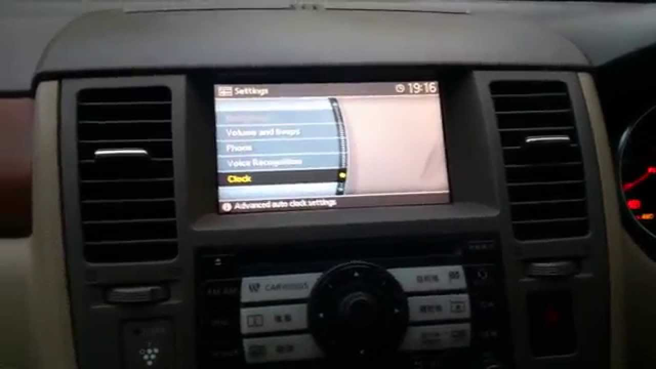Nissan Tiida Japan2004 2007 The Translation Of Menu Into Note Fuse Box Location Youtube Premium