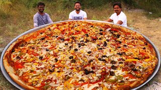 Download Giant Pizza Recipe | Amazing Veg Pizza Cooking by Our Grandpa Kitchen Mp3 and Videos