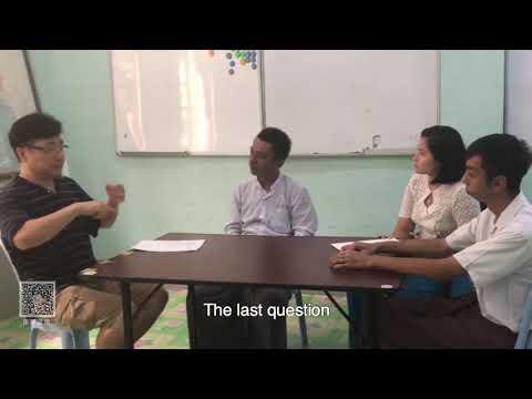 International Deaf Circle Visit School For The Deaf (Yangon)