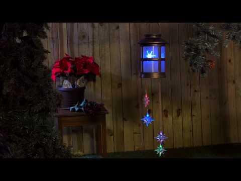 Snowflake Solar Mobile (2SP5924) From Evergreen Garden