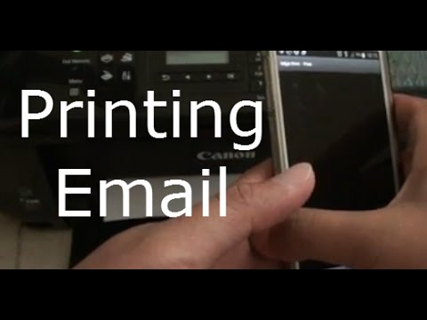 Samsung Galaxy S5 How to Print Out Email to Wireless Printer - YouTube