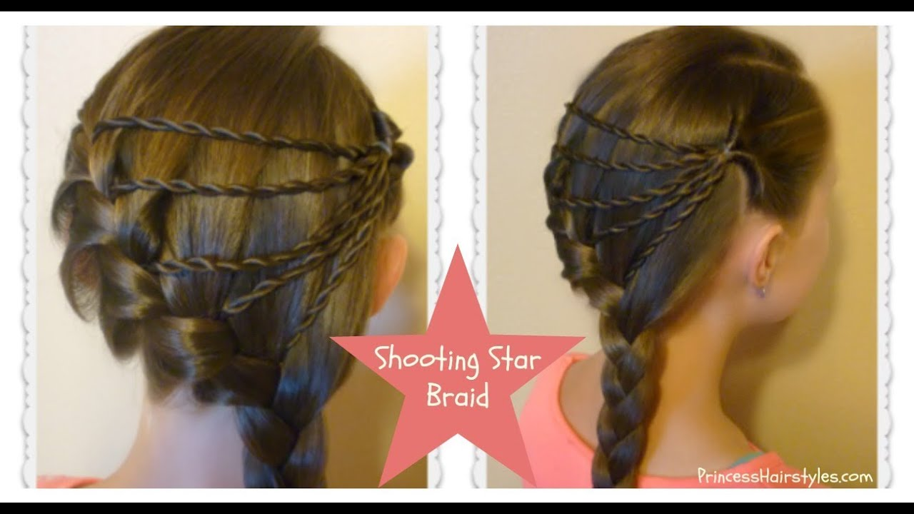 Hair Style Youtube In Hindi: Shooting Star Braid