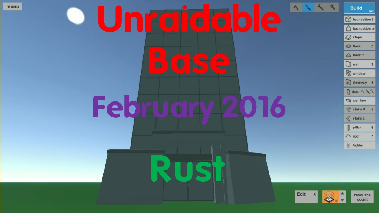 Base rust plan finest rust base design the strong box bunker duo base rust february simple cheap build youtube with base rust plan malvernweather Images