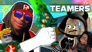 ROBLOX Murder Mystery 2 TEAMERS Funny Moments (MEMES)