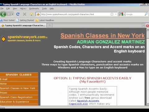 Typing Spanish Letters Symbols In Microsoft Word Youtube
