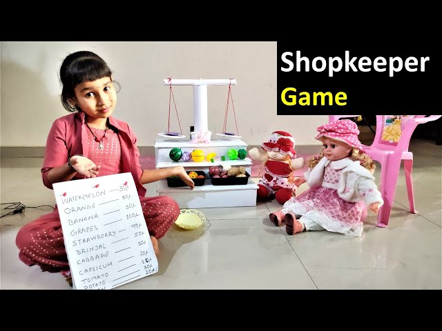 Shopkeeper game in Hindi part-1 | PRETEND PLAY WITH SHOPPING SET | dukandar wala game |LearnWithPari