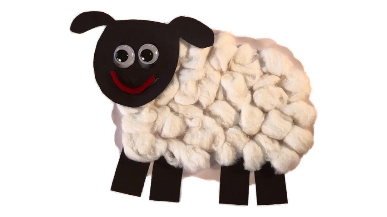 How To Make A Cute Cotton Ball Sheep Craft Tutorial