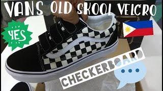VANS Old Skool Velcro Checkerboard